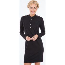 Sukienki: Czarna Sukienka Oficerka 1135
