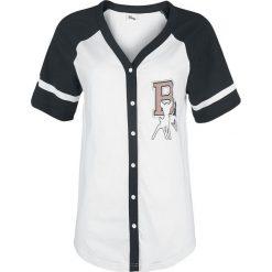 Bluzki asymetryczne: Bambi 42 Koszulka damska biały/czarny