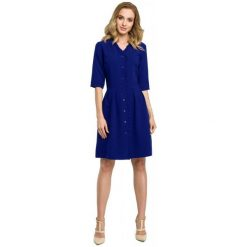 Made Of Emotion Sukienka Damska S Ciemny Niebieski. Niebieskie sukienki hiszpanki Made Of Emotion, na co dzień, na lato, s, z materiału. Za 269,00 zł.