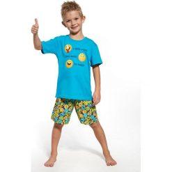 Bielizna chłopięca: Piżama dziecięca 789/63 Smile turkusowa r. 92
