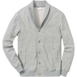 Bluza bejsbolówka dresowa ze strukturalnego materiału Regular Fit bonprix jasnoszary melanż. Szare bejsbolówki męskie bonprix, l, melanż, z dresówki. Za 149,99 zł.