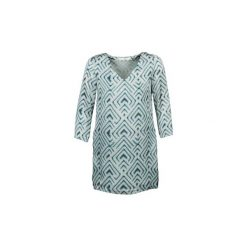 Sukienki krótkie See U Soon  CELESTE. Niebieskie sukienki mini marki See u Soon, s, z krótkim rękawem. Za 191,20 zł.
