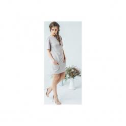 SUKIENKA Z KIESZONKAMI. Białe sukienki balowe marki Klaudyna cerklewicz fashion, na co dzień, na lato, xs. Za 369,00 zł.