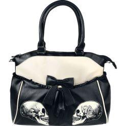 Torebki klasyczne damskie: Banned Skulls & Roses Torebka – Handbag czarny