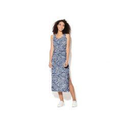 Sukienka CP-025  186. Szare długie sukienki marki Colour pleasure, s, z dzianiny, na ramiączkach. Za 159,00 zł.