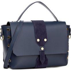 Torebka CREOLE - K10426 Granat. Niebieskie torebki klasyczne damskie Creole, ze skóry. W wyprzedaży za 229,00 zł.