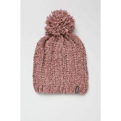 Answear - Czapka. Szare czapki zimowe damskie marki ANSWEAR, na zimę, z dzianiny. W wyprzedaży za 39,90 zł.