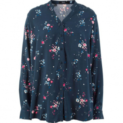 Bluzka z wiskozy, długi rękaw bonprix ciemnoniebieski z nadrukiem. Niebieskie bluzki longsleeves bonprix, z nadrukiem, z wiskozy. Za 69,99 zł.
