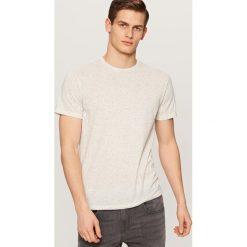 Melanżowy T-shirt - Kremowy. Niebieskie t-shirty męskie marki Reserved. Za 29,99 zł.