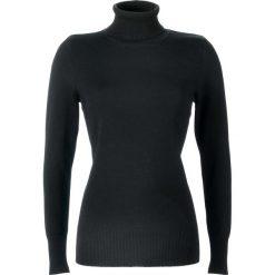 Sweter z golfem bonprix czarny. Czarne golfy damskie bonprix, z dzianiny. Za 54,99 zł.