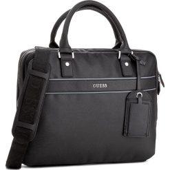 Torba na laptopa GUESS - Uptown HM6223 POL74  BLA. Czarne plecaki męskie marki Guess, z aplikacjami. W wyprzedaży za 309,00 zł.