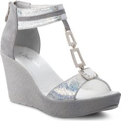 Sandały damskie: Sandały R.POLAŃSKI - 0938 Srebrny Carnivale