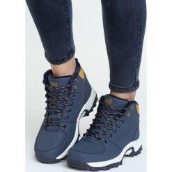 Granatowe Buty Trekkingowe Predictable. Niebieskie buty zimowe damskie Born2be, na jesień. Za 129,99 zł.
