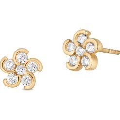 Biżuteria i zegarki: RABAT Kolczyki Złote – złoto żółte 375, Cyrkonia