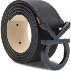 Pasek Damski CALVIN KLEIN - 3.5Cm Ck Buckle Belt K60K604749 75 448. Czarne paski damskie Calvin Klein, w paski, ze skóry. Za 229,00 zł.