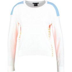 Odzież damska: Armani Exchange Sweter white/light blue