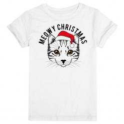 Christmas T-Shirt Damska Koszulka Meowy Christmas M Biały. Białe t-shirty damskie Christmas T-Shirt, m. Za 45,00 zł.