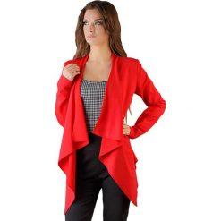 Kardigany damskie: Narzutka w kolorze czerwonym