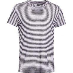 120% Lino UOMO GIROCOLO STRIPE Tshirt z nadrukiem natural. Białe t-shirty męskie z nadrukiem 120% Lino, m, ze lnu. W wyprzedaży za 356,30 zł.