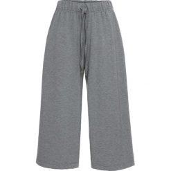 Spodnie dresowe damskie: Spodnie dresowe culotte bonprix szary melanż