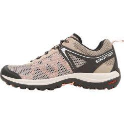 Salomon ELLIPSE MEHARI  Obuwie hikingowe vintage kaki/phantom/coral almond. Brązowe buty sportowe damskie Salomon, z materiału, outdoorowe. Za 399,00 zł.