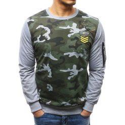 Bluzy męskie: Bluza męska z nadrukiem camo szara (bx3498)