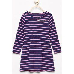 Sukienki niemowlęce: Sukienka w paski – Granatowy
