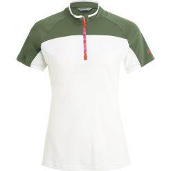Ziener CARICE  Tshirt z nadrukiem white/tir. Białe t-shirty damskie Ziener, z nadrukiem, z poliesteru. W wyprzedaży za 146,30 zł.