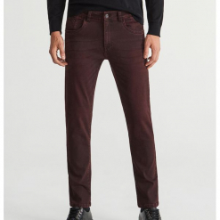 Jeansy slim fit - Brązowy. Brązowe jeansy męskie regular Reserved. Za 129,99 zł.