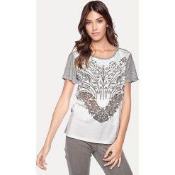 Odzież damska: Koszulka w kolorze jasnoszaro-białym