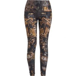 Gothicana by EMP Built For Comfort Legginsy brązowy. Brązowe legginsy we wzory Gothicana by EMP, xs. Za 94,90 zł.