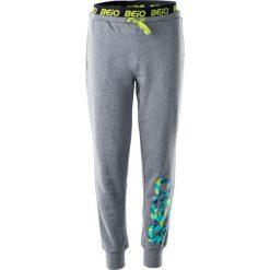 Spodnie chłopięce: BEJO Spodnie BADEM JR LIGHT GREY MELANGE/GREEN TRIANGLES PRINT r. 158
