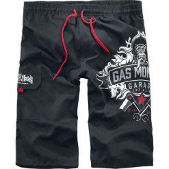 Kąpielówki męskie: Gas Monkey Garage Logo Kąpielówki czarny