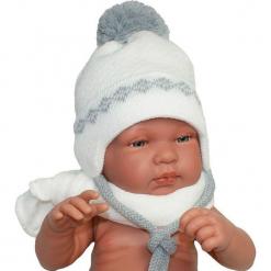 Czapka niemowlęca z szalikiem CZ+S 006A. Szare czapeczki niemowlęce Proman. Za 38,76 zł.
