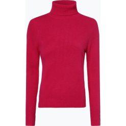 Franco Callegari - Damski sweter z wełny merino, różowy. Zielone golfy damskie marki Franco Callegari, z napisami. Za 229,95 zł.