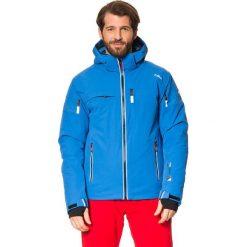 Kurtka narciarska w kolorze niebieskim. Niebieskie kurtki męskie marki CMP, m, z materiału. W wyprzedaży za 643,95 zł.