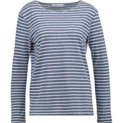 Bluzki asymetryczne: Samsøe & Samsøe NOBEL STRIPE Bluzka z długim rękawem white/blue