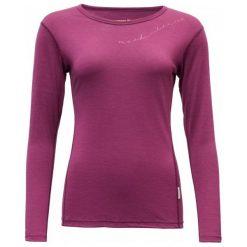 Devold Koszulka Damska Muldal Woman Shirt W/Print Plum L. Czerwone bluzki sportowe damskie marki numoco, l. Za 329,00 zł.