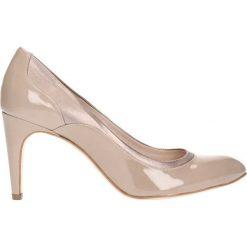 Czółenka LUISA. Brązowe buty ślubne damskie marki Gino Rossi, z lakierowanej skóry, na szpilce. Za 199,90 zł.
