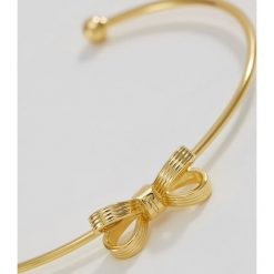 Biżuteria i zegarki: Ted Baker OLKEN MINI OPULENT BOW CUFF Bransoletka goldcoloured