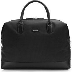 Torba podróżna 86-3U-210-1. Czarne torby podróżne Wittchen, w paski, z materiału, duże. Za 359,00 zł.