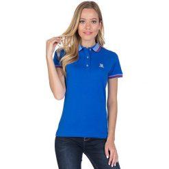 Bluzki damskie: Koszulka polo w kolorze niebieskim