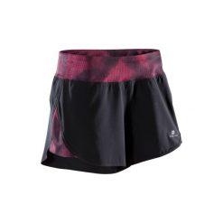 Spodenki fitness kardio 500 damskie. Czarne spodenki sportowe męskie marki DOMYOS, z elastanu. W wyprzedaży za 24,99 zł.