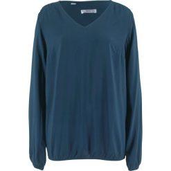 Bluzka z długim rękawem bonprix ciemnoniebieski. Niebieskie bluzki longsleeves bonprix. Za 74,99 zł.