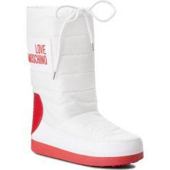 Śniegowce LOVE MOSCHINO - JA24022G16IK210A W.Ankle Boot. Białe buty zimowe damskie Love Moschino, z materiału. Za 589,00 zł.