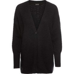 """Swetry oversize damskie: Sweter bez zapięcia """"oversize"""" bonprix czarny"""