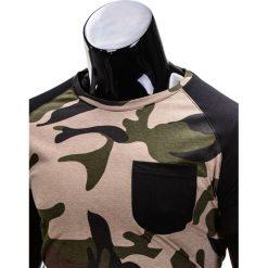T-shirty męskie: T-SHIRT MĘSKI BEZ NADRUKU S811 – ZIELONY