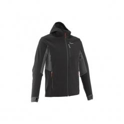 Kurtka Softshell trekkingowa Trek 900 WindWarm męska. Czarne kurtki męskie outdoor QUECHUA, m, z elastanu. Za 199,99 zł.