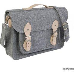 Torby na ramię męskie: Filcowa torba na laptop personalizowa - grawer