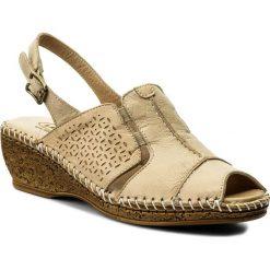 Rzymianki damskie: Sandały LANQIER – 40C1409 Beżowy